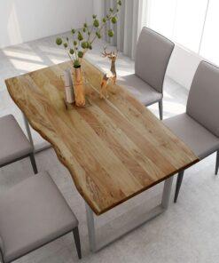 vidaXL spisebord 160x80x76 cm massivt akacietræ