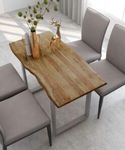 vidaXL spisebord 118x58x76 cm massivt akacietræ