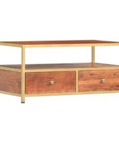 vidaXL sofabord 90 x 50 x 40 cm massivt akacietræ