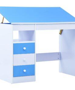 vidaXL børneskrivebord vipbart blå og hvid
