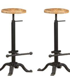 vidaXL barstole 2 stk. massivt mangotræ