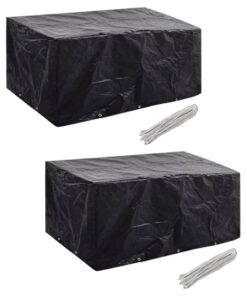 vidaXL møbelovertræk 2 stk. 6 pers. polyrattansæt 10 huller 240×140 cm