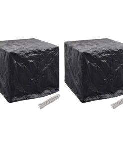 vidaXL overtræk til vandbeholder 2 stk. 8 snørehuller 116x100x120 cm