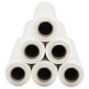 vidaXL pallefilmruller 6 stk. 624 m 23 µm gennemsigtig