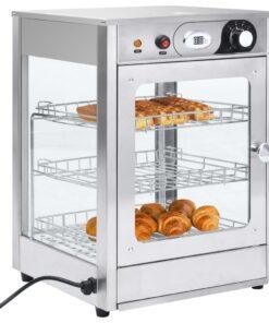 vidaXL elektrisk gastronorm madvarmer 600 W rustfrit stål