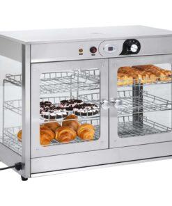 vidaXL elektrisk gastronorm madvarmer 1200 W rustfrit stål