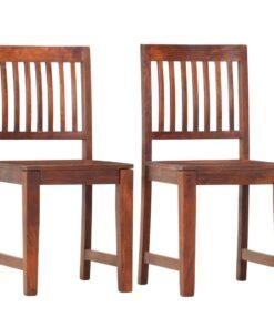 vidaXL spisebordsstole 2 stk. massivt mangotræ