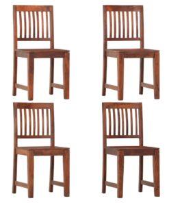 vidaXL spisebordsstole 4 stk. massivt mangotræ