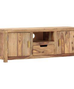 vidaXL tv-bord 118 x 29 x 42 cm massivt sheeshamtræ