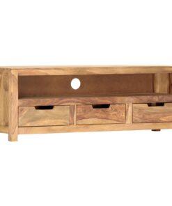 vidaXL tv-bord 115 x 30 x 40 cm massivt sheeshamtræ