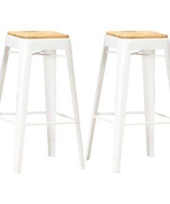 vidaXL barstole 2 stk. massivt mangotræ hvid