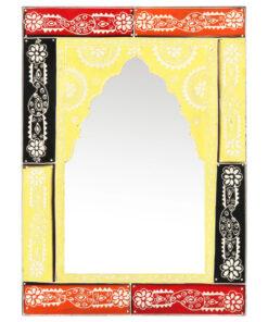 vidaXL håndmalet spejl 40×55 cm massivt mangotræ