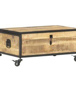 vidaXL sofabord 70x50x33 cm massivt mangotræ