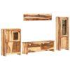 vidaXL tv-møbelsæt 4 dele massivt sheeshamtræ