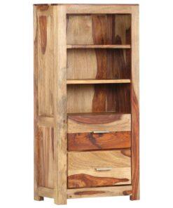 vidaXL højskab 50 x 30 x 108 cm massivt sheeshamtræ