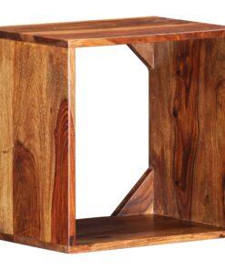 vidaXL sidebord 40 x 30 x 40 cm massivt sheeshamtræ