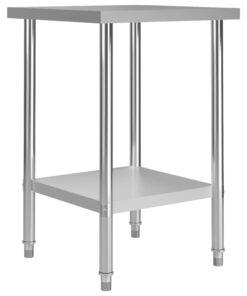 vidaXL arbejdsbord til køkken 60x60x85 cm rustfrit stål