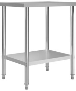 vidaXL arbejdsbord til køkken 80x60x85 cm rustfrit stål