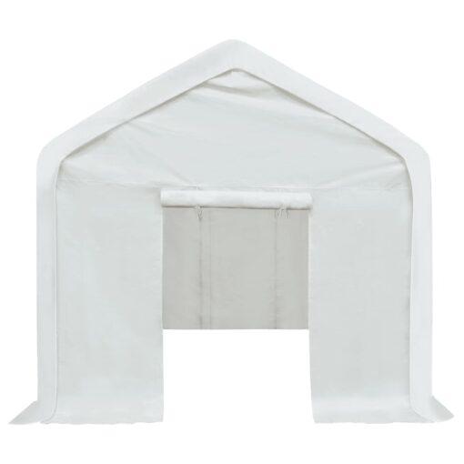 vidaXL opbevaringstelt PE 3 x 4 m hvid