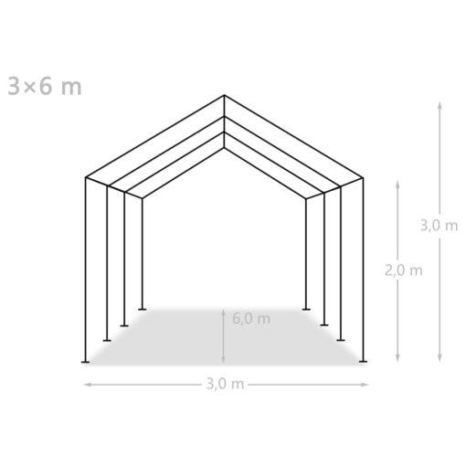 vidaXL opbevaringstelt PE 3 x 6 m hvid