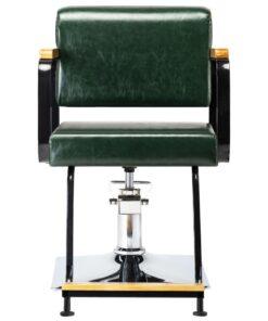 vidaXL professionel frisørstol kunstlæder grøn