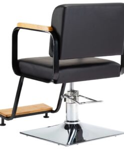 vidaXL professionel frisørstol kunstlæder sort
