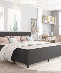 vidaXL sengestel 200×200 cm stof grå