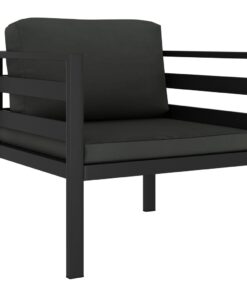 vidaXL 1-personers sofa med hynder aluminium antracitgrå