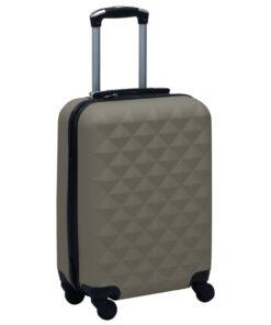 vidaXL hardcase-kuffert ABS antracitgrå