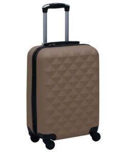 vidaXL hardcase-kuffert ABS brun
