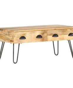 vidaXL sofabord 90x50x39 cm massivt mangotræ