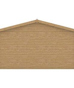 vidaXL træskur 28 mm 400×400 cm træ