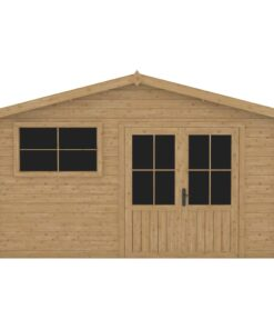 vidaXL træskur med vindue 28 mm 400×400 cm træ
