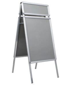 vidaXL plakatstativ med topramme A1 aluminium sølvfarvet