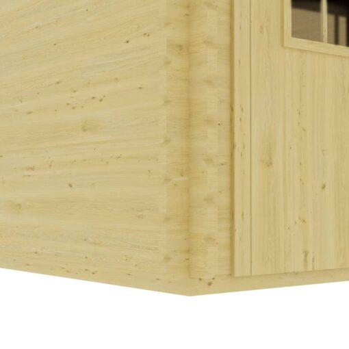 vidaXL træskur med gulv 410x320x264 cm 44 mm massivt fyrretræ