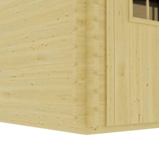 vidaXL træskur 410x320x264 cm 44 mm massivt fyrretræ