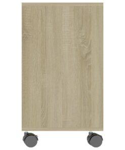 vidaXL sidebord 70x35x55 cm spånplade sonoma-eg