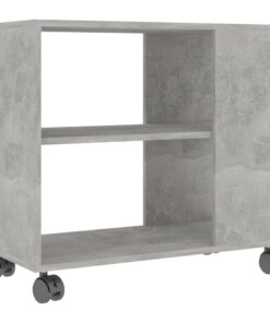 vidaXL sidebord 70x35x55 cm spånplade betongrå