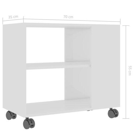 vidaXL sidebord 70x35x55 cm spånplade hvid højglans