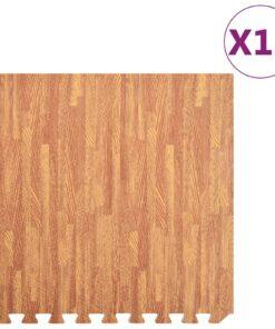 vidaXL træningsmåtter puslespilskant 12 stk. 4,32 ㎡ EVA-skum træårer