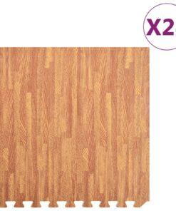 vidaXL træningsmåtter puslespilskant 24 stk. 8,64 ㎡ EVA-skum træårer