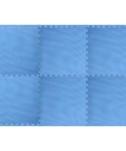 vidaXL træningsmåtter med puslespilskant 6 stk. 2,16 ㎡ EVA-skum blå