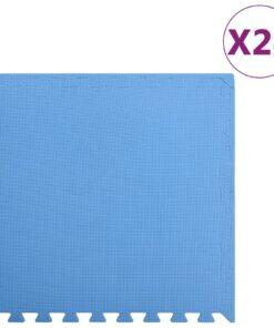 vidaXL træningsmåtter med puslespilskant 24 stk. 8,64 ㎡ EVA-skum blå