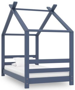 vidaXL sengestel til børneseng 70×140 cm massivt fyrretræ grå