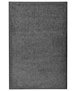 vidaXL vaskbar dørmåtte 60×90 cm antracitgrå