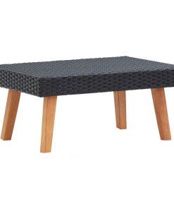 vidaXL udendørs sofabord polyrattan sort