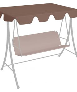 vidaXL udskiftelig baldakin til gyngesofa 192×147 cm 270 g/m² brun