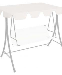 vidaXL udskiftelig baldakin til gyngesofa 192×147 cm 270 g/m² hvid